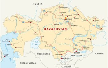 kazakhstan road vector  map